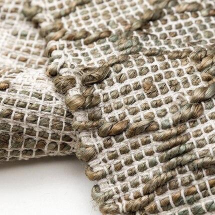 Tapis de Jute fabriqués à la main de Style nordique pour la chambre à coucher de salon tapis solides tapis de maison tapis de porte de plancher tapis de zone moderne délicat - 2