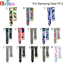 Various colors fashion watch band luxury replacement silicone strap For Samsung Gear Fit 2 Fit2 SM-R360 bracelet bracelet band fashion watch band luxury replacement silicone watchbands for samsung gear fit 2 fit2 sm r360 bracelet wristband strap hot sale