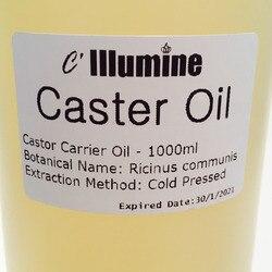 1000 ml Natuurlijke Castor Basisolie Eetbare Massage Spa Pedicure Handgemaakte Zeep Grondstof Huid Haarverzorging Schoonheidssalon