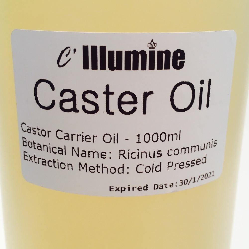1000ml Natural Castor Base Oil Edible Massage Spa Pedicure Handmade Soap Raw Material Skin Hair Care Beauty Salon