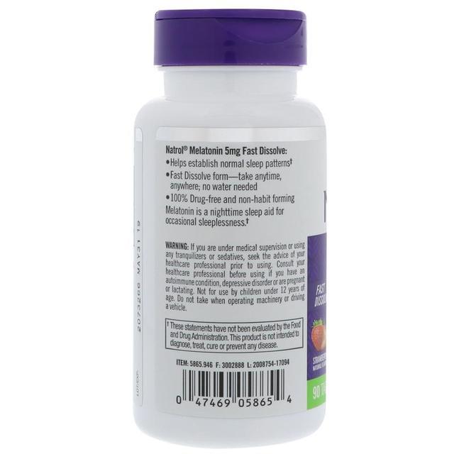 Natrol Melatonin 5 mg 90 pcs Fall asleep faster stay asleep longer