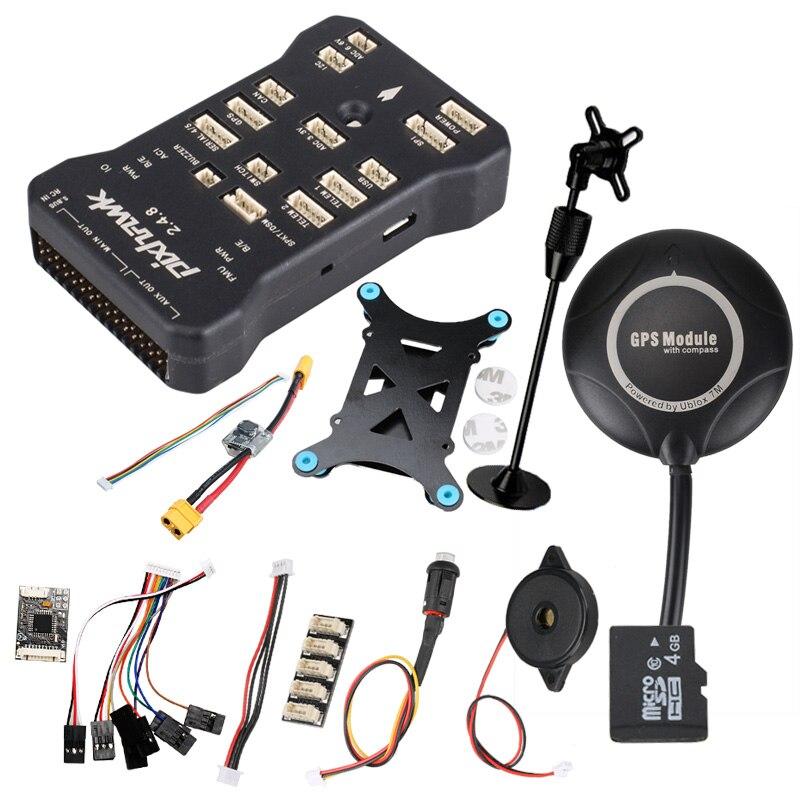 Pixhawk PX4 PIX 2.4.8 32 Bit Controllore di Volo w/4G SD Interruttore di Sicurezza Buzzer 7 M GPS + PPM + I2C + shock Absorber + xt60 modulo di potenza-in Componenti e accessori da Giocattoli e hobby su  Gruppo 1