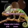 1.56 асферических фотохромизм линз высокие пользовательские качества очки для чтения линзы серый/коричневый