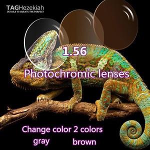 Image 1 - 1,56 asphärische photochromism brillenglas hochwertige lesebrille linsen grau/braun