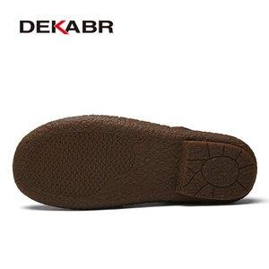 Image 4 - Мужские сандалии из сплит кожи DEKABR, коричневая летняя пляжная повседневная обувь, воздухопроницаемые туфли ручной работы для мужчин, лето 2019
