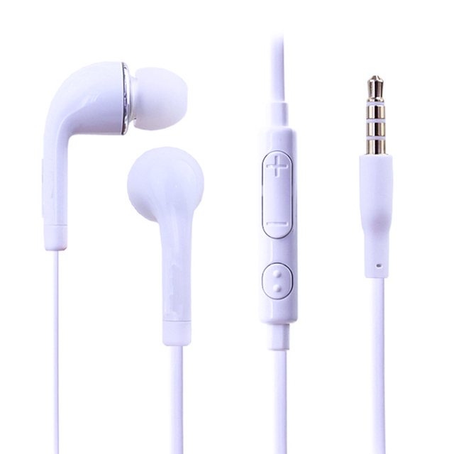 For 3.5mm Jack In-Ear Wired Stereo Earphone headset Remote with Mic Earphone For Samsung S4 Headset наушники вкладыши