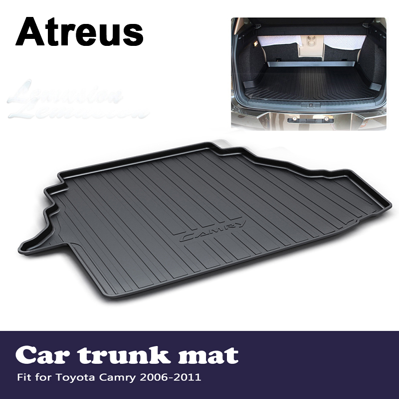 Atreus Car Accessories Waterproof Anti-slip Trunk Mat Tray Floor Carpet Pad For Toyota Camry XV40 2006 2007 2008 2009 2010 2011 for hyundai tucson 2006 2007 2008 2009 2010 2011 2012 2013 2014 waterproof anti slip car trunk mat tray floor carpet pad