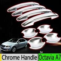 Hot Sale For Skoda Octavia A 7 A7 3 Luxurious Chrome Exterior Door Handle Covers Accessories