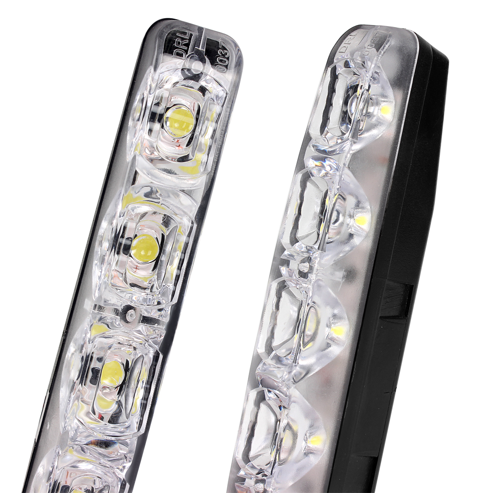 2pcs LED Car Daytime Running Lights DRL 6 LEDs 12V 6000K 12W Automobile Light Source Car Styling Waterproof Fog Driving Light in Car Light Assembly from Automobiles Motorcycles
