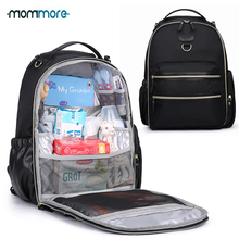 mommore Wash-Free Diaper Bag Large Capacity Baby Nappy with Changing Pad, Insulated Pockets Stroller Clips