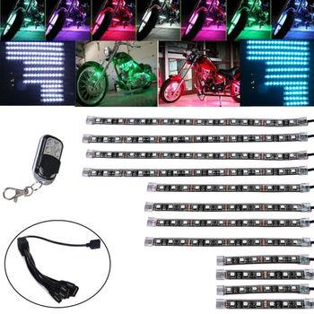 LED Lichtleisten | DOXINGYE, 12x Motorrad Led-leuchten Wireless Remote Multi Farbe Neon Glow Licht Streifen Kit