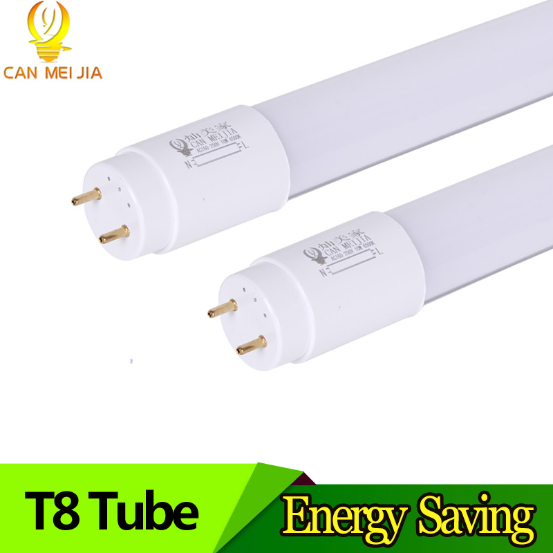 CANMEIJIA LED Tube T8 2ft 9W 10W 600mm Super bright T8 Tube Lamp G13 SMD2835 Replace Led Fluorescent Lights 220V Cold White led t8 integrated tube 10w 600mm 110v 220v 85 265v transparent clear cover milky cover free ship 2ft white warm white smd2835