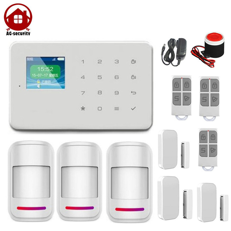 Smart Home Security Touch Screen Panel 1.7 inch TFT wireless auto dial alarm system GSM Alarm System DP-G18 AG-security Factory wireless smoke fire detector for wireless for touch keypad panel wifi gsm home security burglar voice alarm system