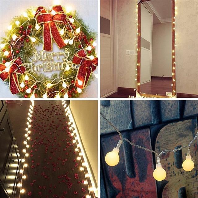 Wedding Decoration 4m Natal Christmas Led String Lights Decorative Garland Ball Tree Home