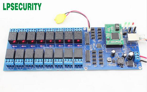 Industrial 16 channel break controller Smart Switch Relay 16 CH Output TCP IP Internet Web Relay