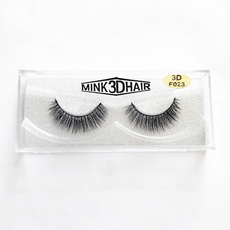 F021 3D Mink Hair False Eyelashes Natural Cross Long Fake Eye Lashes Extension Full Strip Lashes Individual Upper Lashes