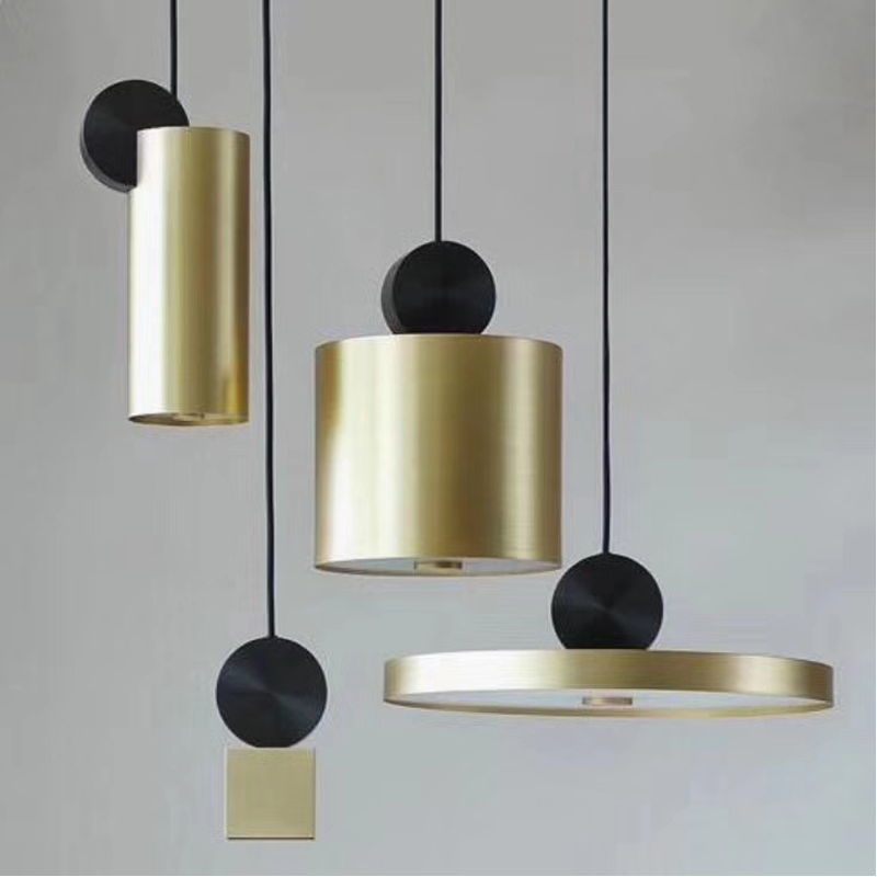 Post Modern Art Pendant Lights LED Geometric Nordic Hanging Lamp For Cafe Bar Restaurant Livingroom Bedroom Home Lighting Deco