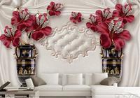 Atmósfera Honorable murales de pared personalizados Joyería flores estereoscópica 3d papeles de la pared decoración para el hogar sala de estar TV telón de fondo