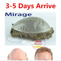 "Free shipping 62 Colors Mirage Toupee--6"" Slight Wave Medium Light Mens Hair Piece Toupee Best Quality Can be cut by yourself"