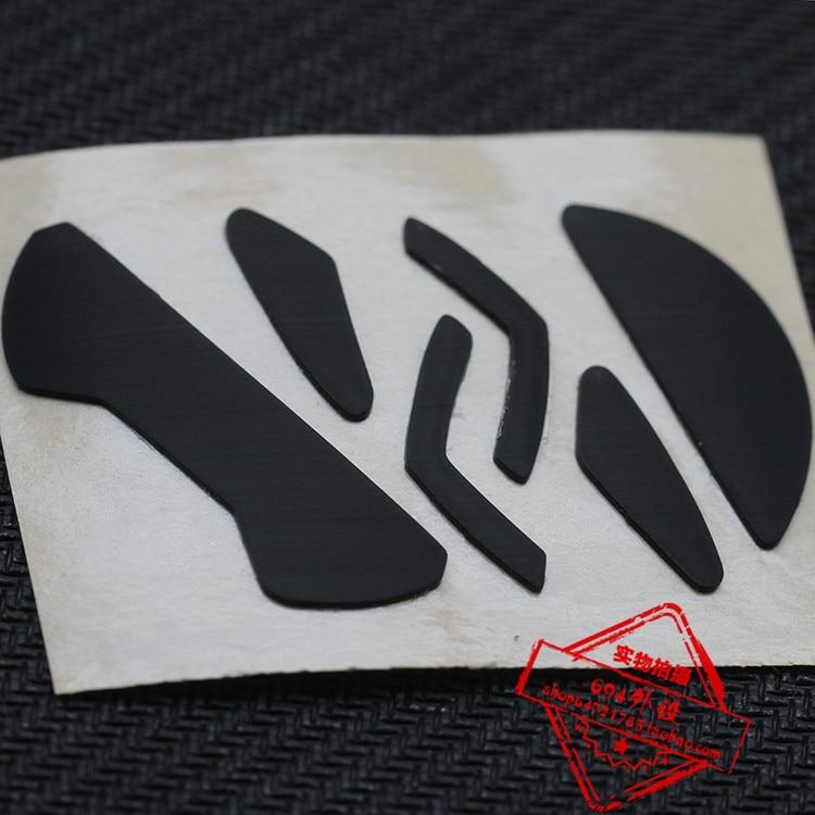 2 Sets/pack Teflon Mouse Skates Mouse Feet For Logitech G302 G303 0.75mm Thickness