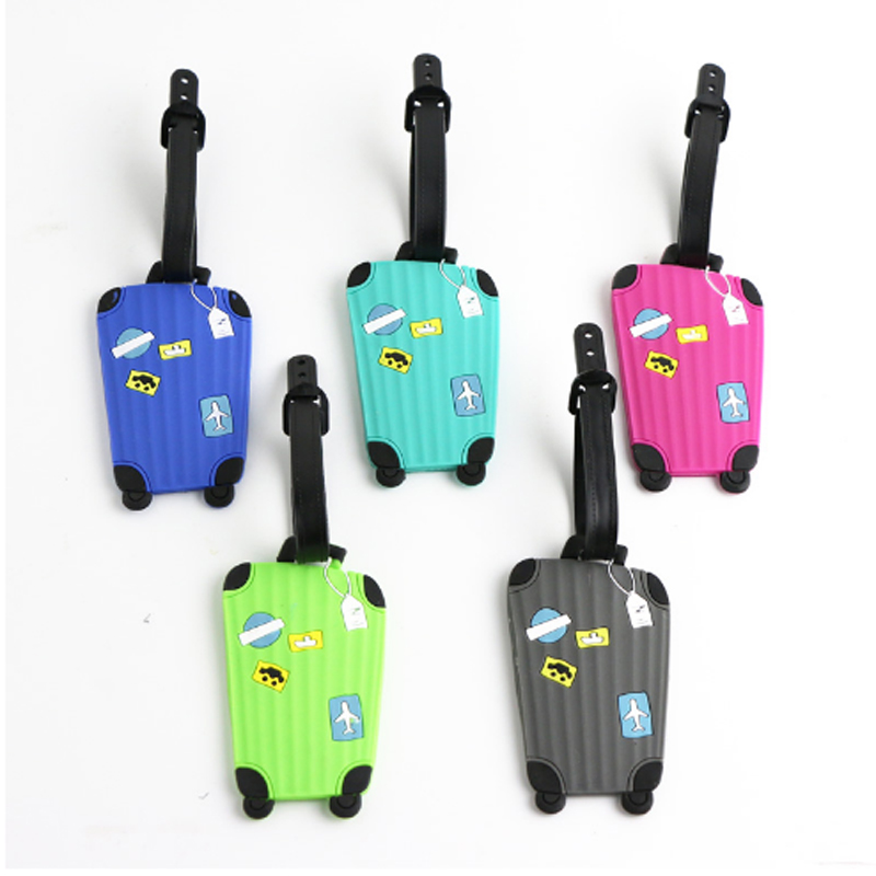 New Suitcase Cartoon Luggage Tags Design ID Tag Address Holder Identifier Label Travel Accessories