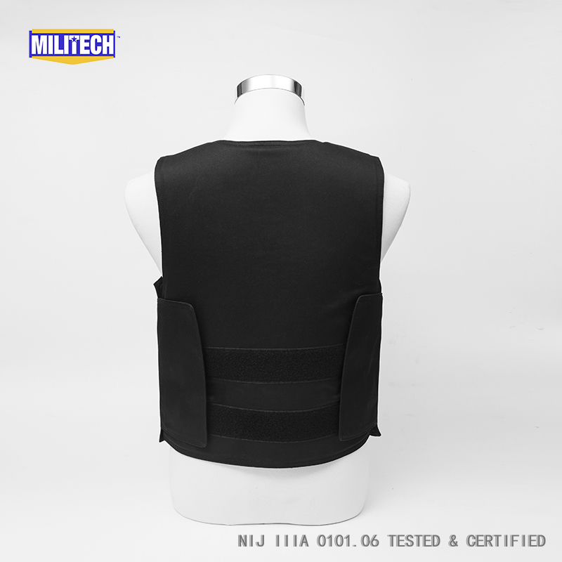 Image 4 - Militech Ballistic BulletProof Vest NIJ IIIA 3A and Level 2 Stab VIP Black Concealable Covert Twaron Aramid Bullet proof Vest-in Safety Clothing from Security & Protection