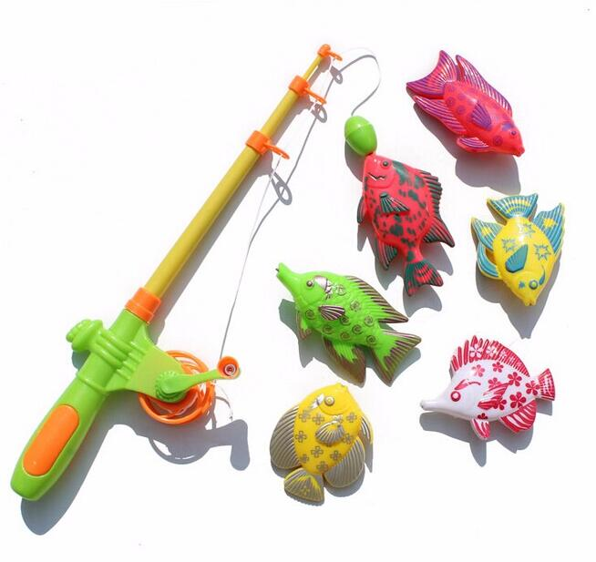 So Cool !!! Magnetic Fishing Toy With 6 fish And a Fishing Rods Outdoor Fun & Sports Fish Toy Gift for Baby/Kids