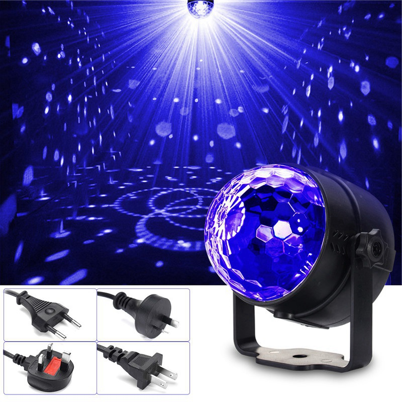 New Arrival UV Purple LED Stage Lighting Effect 3W Crystal Magic Ball LED Stage Light Lamp For Party Disco Club DJ Bar Lights mini rgb led crystal magic ball stage effect lighting lamp bulb party disco club dj light show lumiere