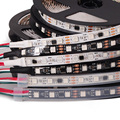 5m DC12V WS2811 Black/White PCB 30/60 leds/m, 10/20 pixels/m led strip,every 3leds addressable, waterproof IP30/IP65/IP67