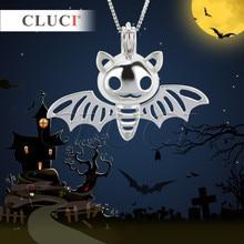 Cluci новейшие модные аксессуары и украшения Хэллоуин Талисманы крылья летучей мыши форма Кейдж Подвески ожерелье для взрослых и детей 3 шт.
