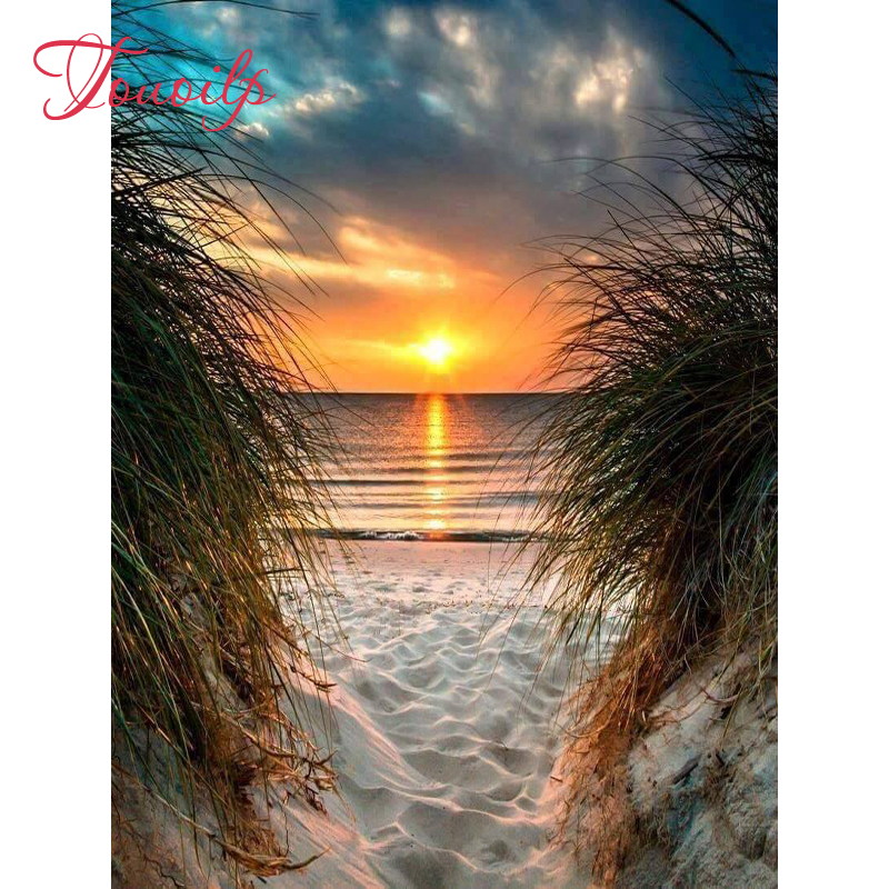 Sunset Beach Full Drill 5D Diamond Painting Embroidery Cross Stitch Home Decor
