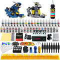 Solong Tattoo Complete Tattoo Kit 2 Pro Machine Guns 40 Inks Power Supply Foot Pedal Needles Grips Tips TK223