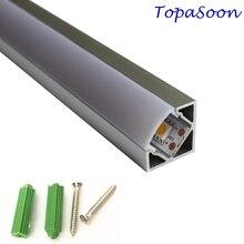 10 Uds. Perfil de aluminio LED de 1m de longitud, envío gratis, canal de aluminio con tira led, carcasa Artículo No. LA LP18 Perfil de esquina led