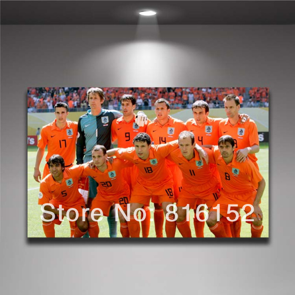 <font><b>World</b></font> <font><b>Cup</b></font> 2014 Brazil Soccer Players <font><b>Football</b></font> <font><b>Stars</b></font> Netherlands Team Photo Picture Canvas Printing Painting Wall <font><b>Decor</b></font>
