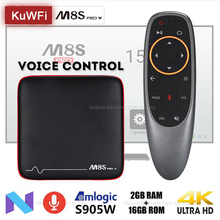KuWFi Smart TV Box Android 7.1 Voice Control Set Top Box Amlogic S905W 2GB 16GB HDMI Set-top Box PK X96 mini M8S PRO W недорого