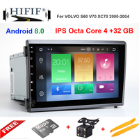 Octa Core 4G+32G Android 8.0 Car DVD Player Head Unit For VOLVO S60 V70 XC70 2000 2004 Auto GPS Navigation Radio IPS Screen