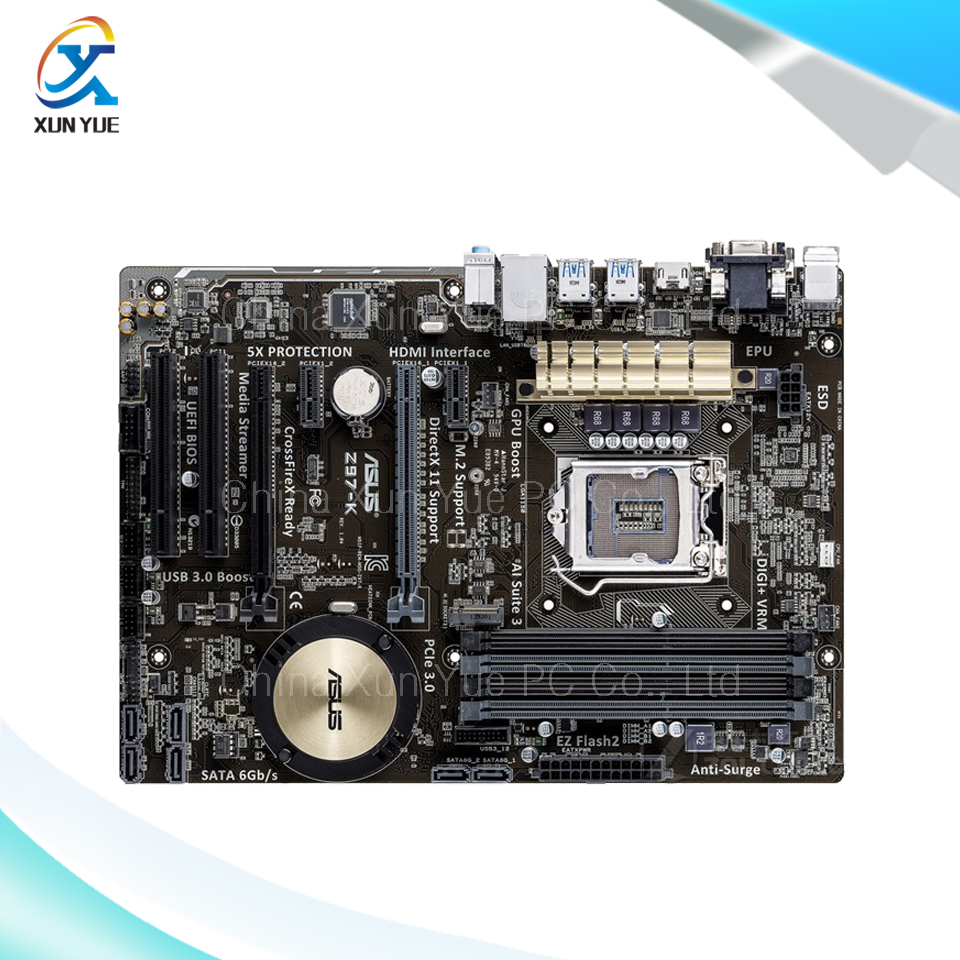 New asus h81m k motherboard cpu i3 i5 i7 lga1150 intel h81 ddr3 sata3 - For Asus Z97 K Original Used Desktop Motherboard For Intel Z97 Socket Lga 1150 For
