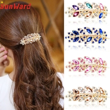 OTOKY Drop Shipping Hair Jewelry Vintage Leave Hair Clips Jewelry Crystal Hair Clips Hairpins For Hair Clip Tools For Gift F07