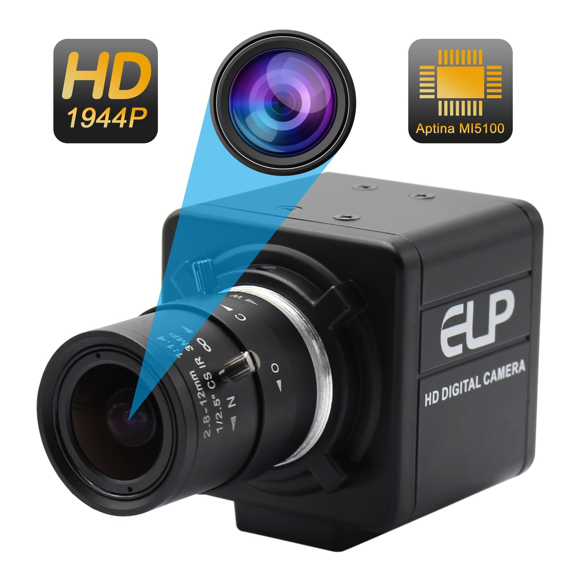 5 megapikseli 2592x1944 kamera USB 2.8 12mm soczewka wieloogniskowa Aptina MI5100 CMOS Windows USB kamera wideo z 3m kabel usb w Kamerki od Komputer i biuro na AliExpress - 11.11_Double 11Singles' Day 1
