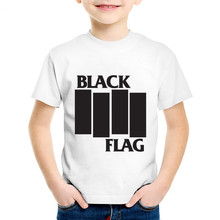 Black Flag Printed Children T-shirts