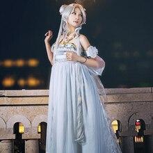 Аниме сейлор мун серена Tsukino усаги цукино нью-королевы спокойствие потому платье принцессы косплей костюм