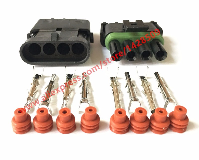 CONDUCTOR CONNECTOR KIT Build Your Own Wire Sizes DELPHI WEATHER PACK 6 PIN