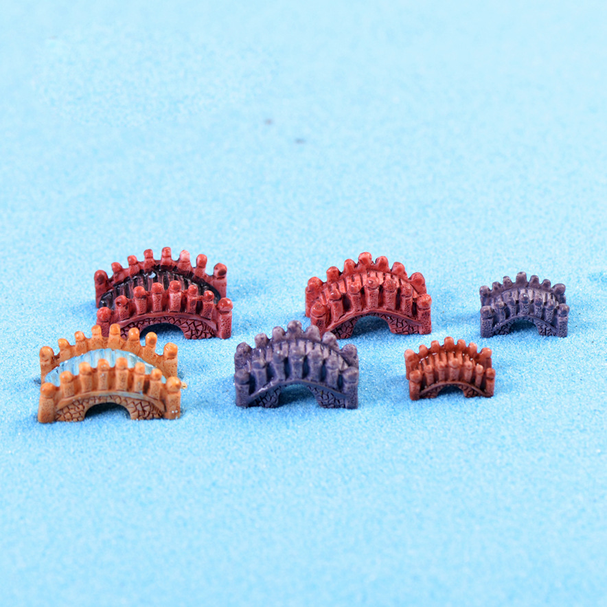 1Pcs Small Arch Bridge DIY Resin Fairy Garden Craft Decoration Miniature  Micro Gnome Terrarium Gift F0763
