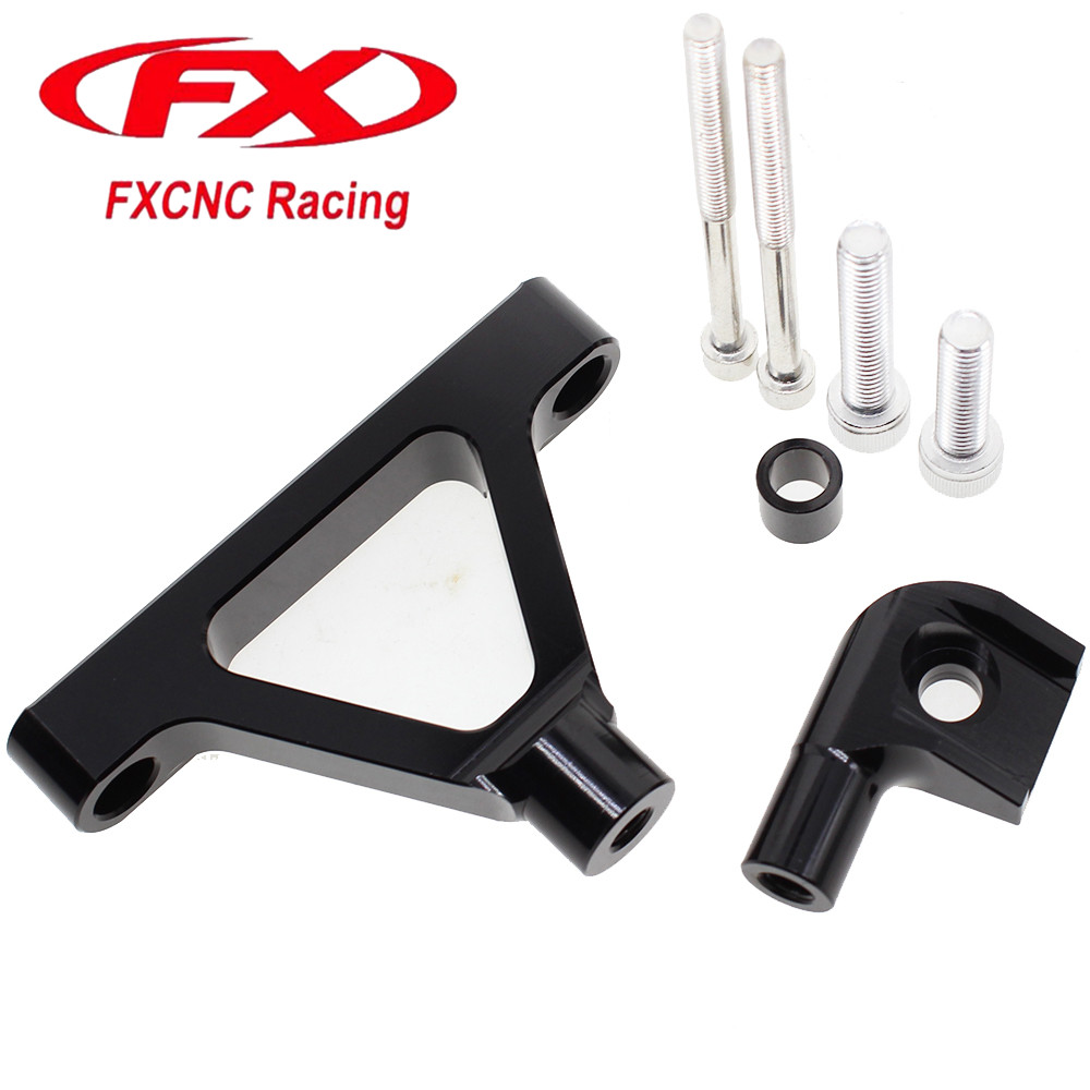 CNC Motorcycle Advailable Steering Stabilize Damper Bracket Mounting Kit For Kawasaki ZX6R ZX 6R Z X6R ZX6 R Z X6R 2007 - 2008 steering damper stabilizer bracket mounting holder for kawasaki ninja zx6r zx 6r 2009 2016 2010 2015 gold