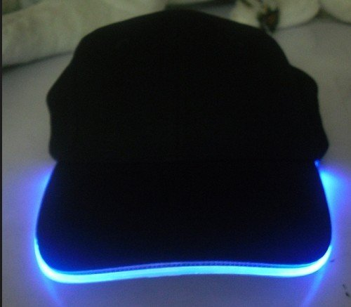LED light cotton adjustable pressure nozzle size cap, black hat colored light
