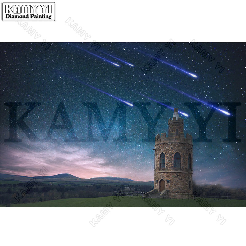 3D Rhinestone Painting Crystal Home Decor DIY Diamond Painting Cross Stitch Meteor Shower Pattern Diamond Embroidery Crafts