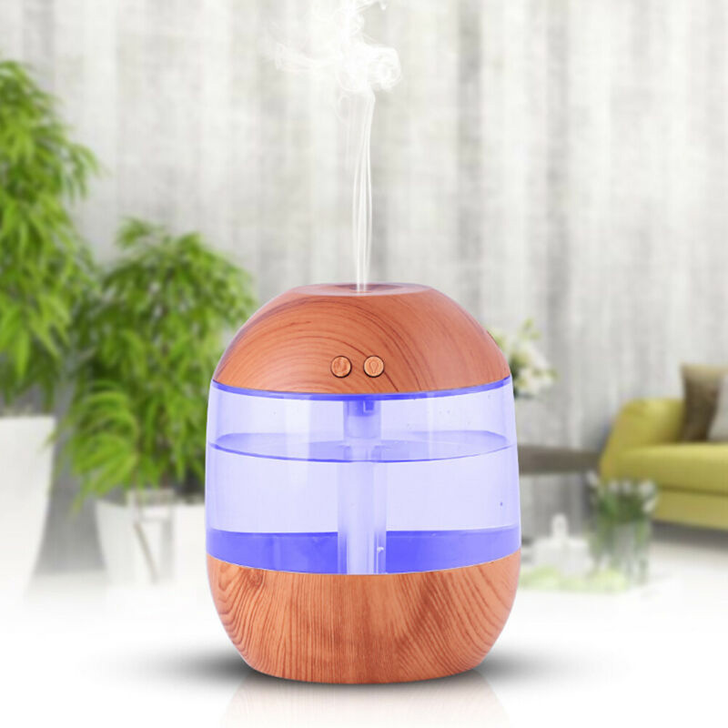 Colorful Nightlight Humidifier LED Diffuser Air Car Home Fragrances Accessories