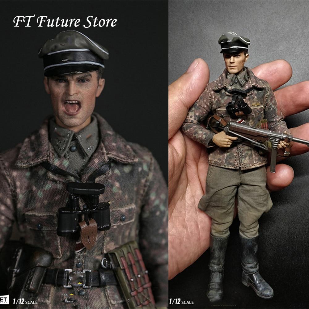 Colección 1/12 serie de bolsillo ELITE: WWII SS Panzer División Das Reich PES003 arma de doble cabeza alemana conjunto de figura de acción-in Figuras de juguete y acción from Juguetes y pasatiempos    1