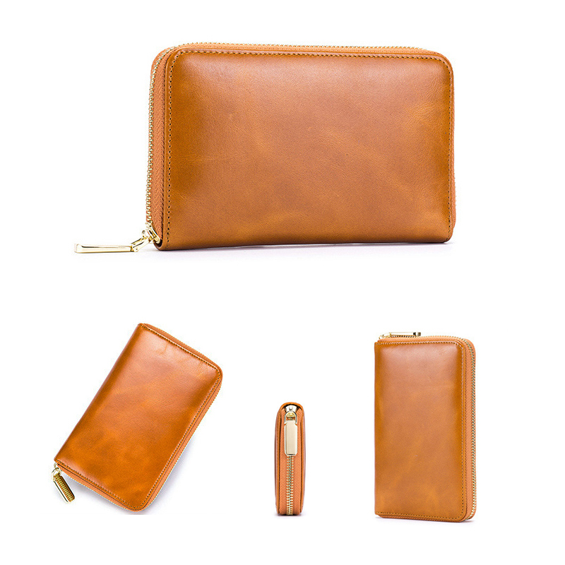 Mini neck pouch for travel documents messenger bag bovine leather case sleeve pocket cover wallet with strap