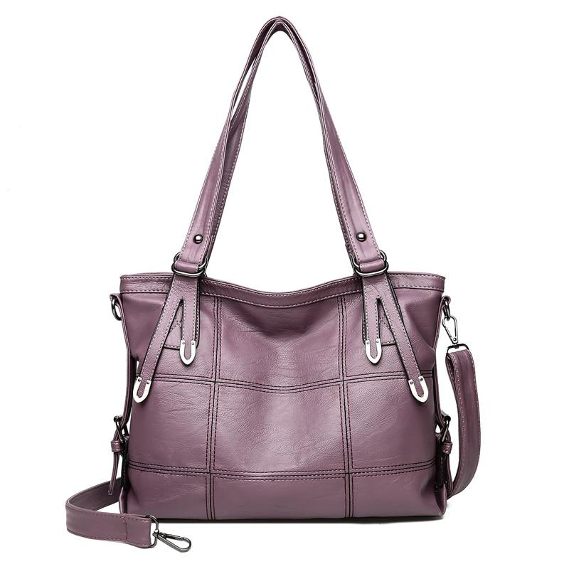 Black Le Mano gray A Tracolla Delle Sac Tote Per 2019 Elaborazione Grande Red purple Handbag Handbag Donne Femminile Capacità Handbag Dell'unità Borsa Plaid Qualità Handbag Con Cuoio Di wine Alta AgwHTq